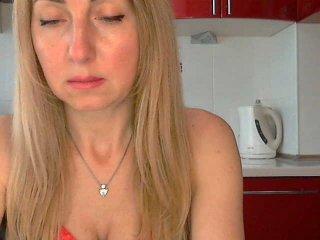 Rubia madura por webcam