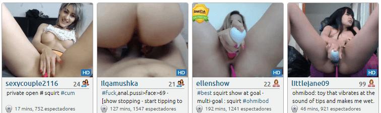 Las chicas más calientes detrás de una webcam porno