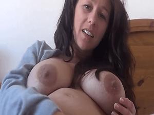 Mujer Preñada con Ganas de Masturbarse en la Cam