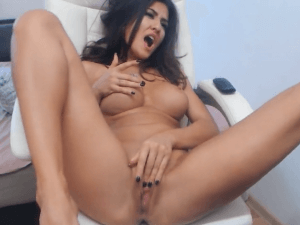 Putón del Chat se Abre de Piernas en la Webcam