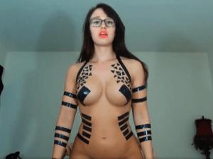 Sexy Jovencita Fetichista en Cam Recibe una Corrida