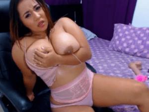 Modelo de Colombia Desnuda muy Putón en la Cam